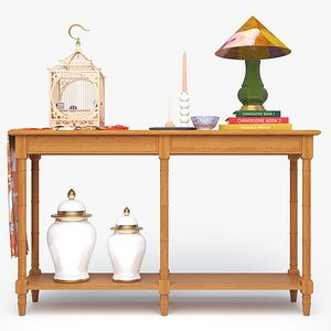 3D ENTRYWAY CONSOLE TABLE