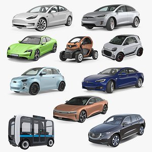 Electric Cars Collection 4 3D
