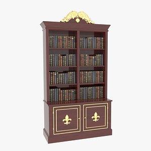 3D Bookcase Small Mahogany