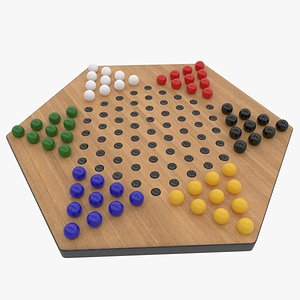 3D chinese checkers colored balls