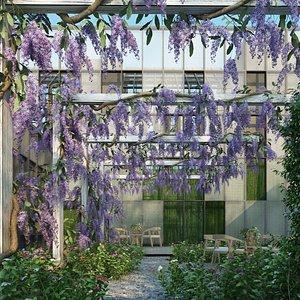 purple wreath 3D model