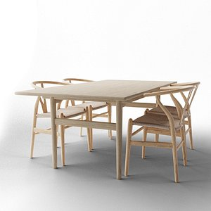 CH327 Table  Wishbone Chair model