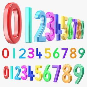 Plastic Numbers Set model