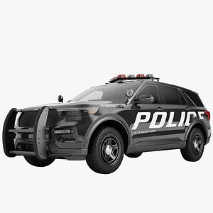 3D Police Car SUV Generic 01 model