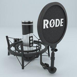 studio microphone rode 3D model