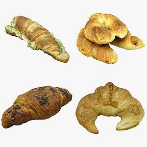 Pastry Croissants Collection 02 3D model