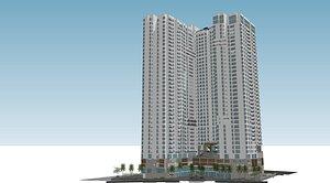 Highrise building 3D model