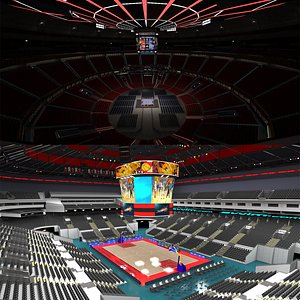 Boxing Arena and Basketball Arena Arena 3D model