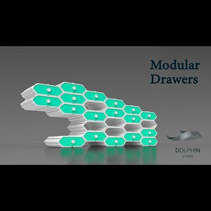 hexagonal Modular Drawers print model