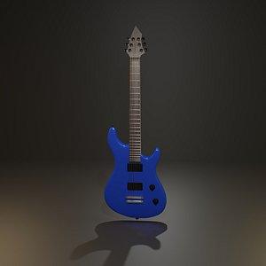 Electric guitar highPoly 3D model model