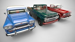 Collection American Pickup Trucks 3D model