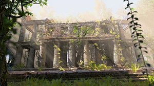 Temple in the jungle 3D model