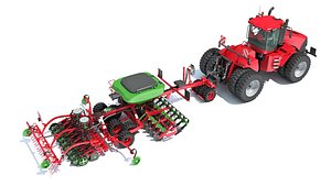 3D articulated tractor seed drill