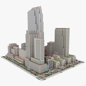 3D Rockefeller Center Building Complex
