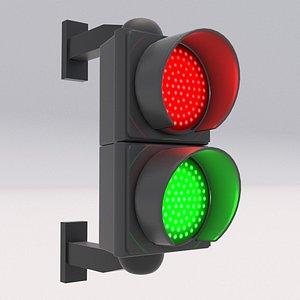 3D model Traffic Light 02