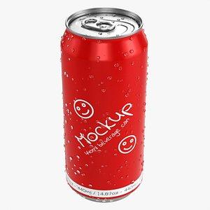 Standard wet beverage can 440 ml 14-87 oz 3D