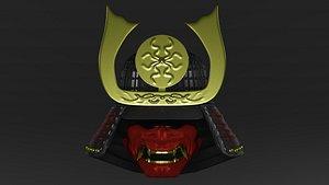samurai s helmet kobuto 3D model