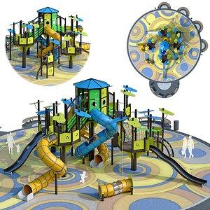 Large children playground complex 3D model