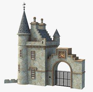 Gate lodge of castle Ballindalloch. Scotland 3D