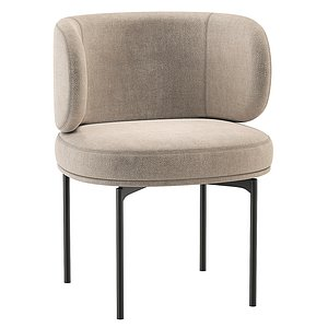 3D Akiko Dining Chair Gallotti and Radice model