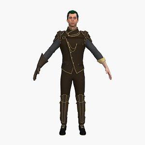 man knight male 3D model