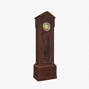 clock grandfather sven 3D