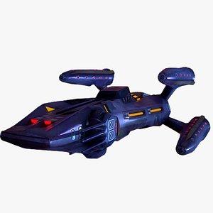 3D model spaceship ship space