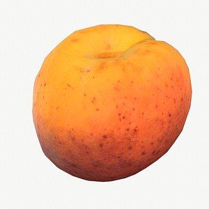 05 apricot fruit modeled 3D model