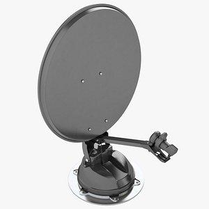 Auto Motorhome Satellite Dish 02 3D model
