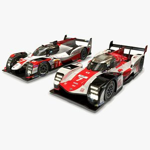 Toyota LMH  and LMP1 WEC 2020-2021 Cars Collection 3D model