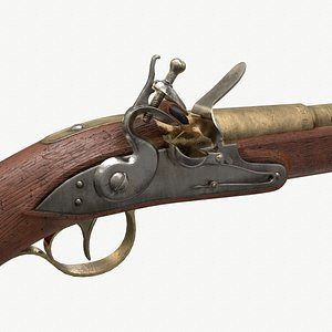 3D ready flintlock pistol model