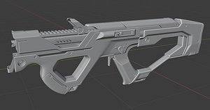 weapon sci fi 3D model