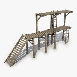 Modular Pedestrian Bridge 3 3D Model 3D