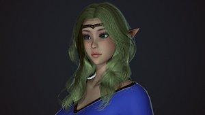 3D Wizard Girl