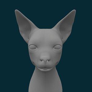 3D 0037 Base Chihuahua model
