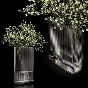 3D model A bouquet of gypsophila