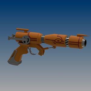 3D Outlaw Star- Caster Gun