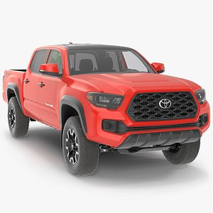 3D Toyota Tacoma TRD Off Road Red Metallic 2021