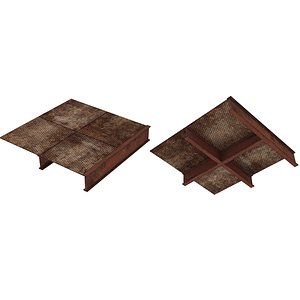 Industrial Platforms  Stairs 01 Set PSide 01 03 3D