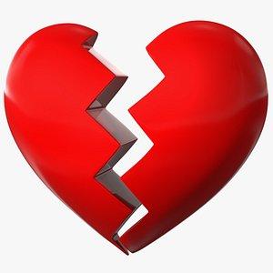 3D Cracked Heart Emoji