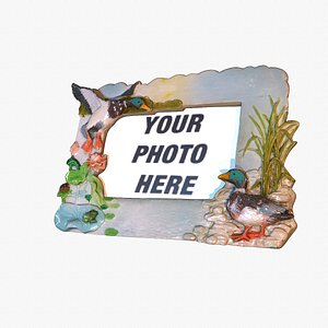 3D model Photo frame witch duck figures hi-poly