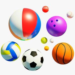 3D 10 sport balls
