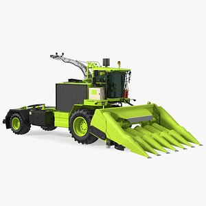 3D Harvester with Corn Header 6 Rows New model