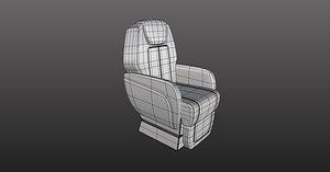 3D corporate jet seat step model