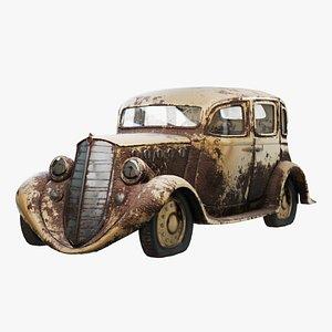 car rusty classic 3D