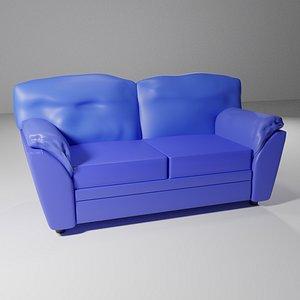 3D sofa seat furniture model