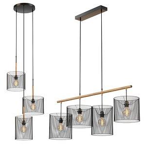 Lucide Baskett pendant light mesh chandelier model