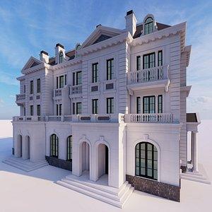 3D classical villa residential