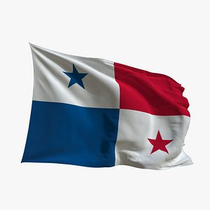 Realistic Animated Flag - Microtexture Rigged - Put your own texture - Def Panama 3D model