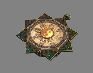 Geomantic compass Tai Chi 3D